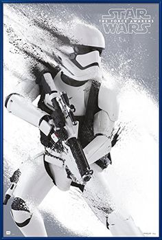 Star Wars Episode VII: The Force Awakens - Stormtrooper Paint Αφίσα, Poster Caza Tie, Star Wars Stormtrooper, Imperial Stormtrooper, Tableau Star Wars, In Der Disco, Wall Art Prints, Poster Prints, Canvas Prints, Deco Panel