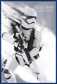 Star Wars Episode VII: The Force Awakens - Stormtrooper Paint Αφίσα, Poster Star Wars Stormtrooper, Imperial Stormtrooper, Tableau Star Wars, Deco Panel, Star Wars Episoden, Wall Art Prints, Poster Prints, Canvas Prints, Cool Posters