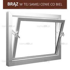 Okno gospodarcze z PCV z podwójną szybą 4 mm - toma24.pl
