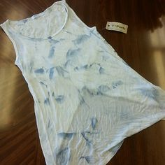 BRAND NEW!! SKY BLUE TANK TOP W LAZER BACK BRAND NEW!! SKY BLUE TANK TOP W LACE LAZER BACK DETAIL !! SUPER COMFY AND LIGHT. PERFECT FOR SPRING/SUMMER !!  MADE IN USA T party  Tops Tank Tops
