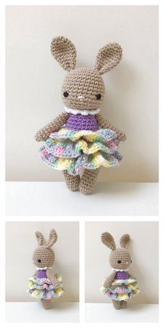 Amigurumi Cute Bunny Free Pattern – Amigurumi Free Patterns And Tutorials Easy Knitting Projects, Easy Knitting Patterns, Crochet Patterns, Knit Or Crochet, Crochet Toys, Free Crochet, Easter Crochet, Amigurumi Doll, Amigurumi Patterns