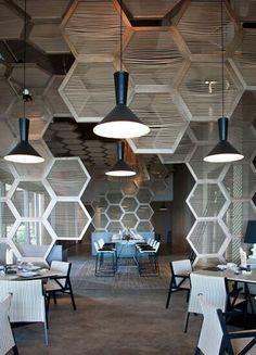 Unos paneles hexagonales, un punto focal interesante