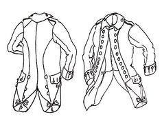 Regimental coat pattern revolutionary war military