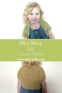 caa156427ae3e0 Olive Shrug ~ a free crochet pattern by Crafty Cruella Crochet Toddler
