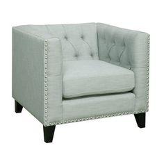 Emerald Spa Button Tufted Contemporary Club Chair