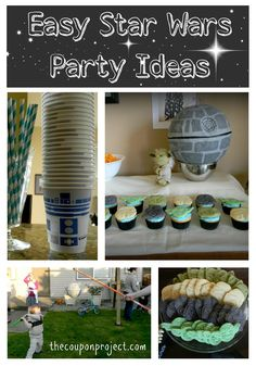 In the spring, I shared with you how I threw a Frugal Star Wars-themed birthday for my son. A couple weeks ago, my good pal Susan also opted… Star Wars Party, 6th Birthday Parties, 7th Birthday, Birthday Ideas, Anniversaire Star Wars, Party Fiesta, Party Themes, Party Ideas, Star Wars Birthday