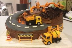 Construction cake for the little builder in your life