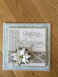 Blue & Silver Christmas card