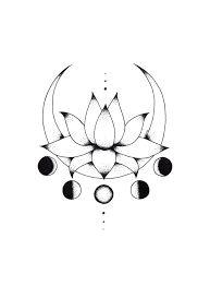 Afbeeldingsresultaat voor flor de lotus desenho