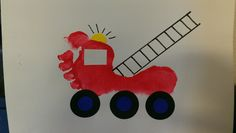 Trains and Trucks Star Fire truck Daycare Crafts, Baby Crafts, Toddler Art, Toddler Crafts, Craft Activities For Kids, Preschool Crafts, Fire Safety Crafts, Fireman Crafts, Fire Truck Craft