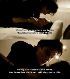 One of my favorite scenes! Damon is so damn sexy and when he is protecting the people he loves he is even hotter!!