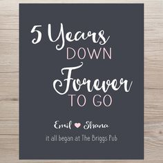Anniversary Gift for Husband 5 Year by PrintsbyChristine on Etsy