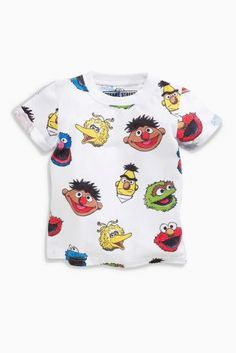 Buy White All Over Print Sesame Street T-Shirt (3mths-6yrs) from the Next UK online shop