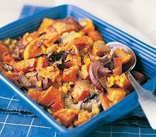 Butternut And Sweetcorn Gratin Recipe on Yummly. Healthy Thanksgiving Recipes, Vegan Thanksgiving, Holiday Recipes, Holiday Meals, Christmas Recipes, Veggie Recipes, Cooking Recipes, Healthy Recipes, Vegan Dishes