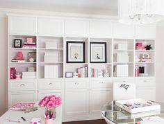 Karen Davis� Playful and Pink Office {Office Tour}