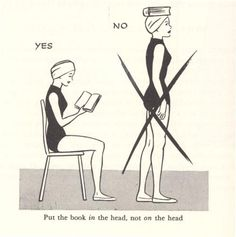 Put the book in the head, not on the head.