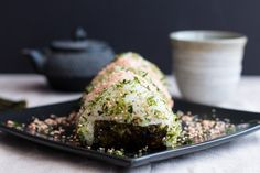 Onigiri (Japanese Rice Balls). Lightly seasoned rice containing Spicy Kimchi Tuna or Salmon Furikake and topped with furikake seasoning make great lunches or snacks. Or you can fill them with whatever you want, getting creative with what you have.
