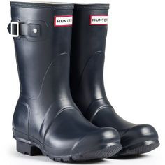 Hunter Women's Orig Short Rubber Boots EUR 37 Navy >>> To view further for this item, visit the image link.