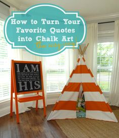 DIY Chalkboard Quotes - How to Turn Your Favorite Quotes Into Chalk Art