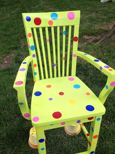 Teacher chair! This would be a little easier to paint