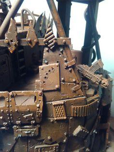 #40k #warhammer #ork #orks #plasticard #rust #scratchbuild #model #miniatures #scenery #terrain