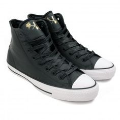 46e064b155ed Buy CTAS Pro Hi Shoes in Black Rich Gold by Converse Cons Bored of  Southsea