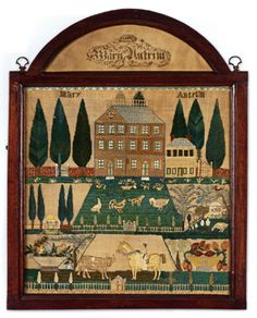 New Jersey needlework sampler by Mary Antrim, Burlington Country, dated 1807. This was one of Betty Ring's samplers that sold recently at auction at Sotheby's for over a million dollars! KEEP STITCHING!