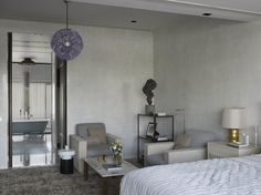 Singapore Penthouse Master Bedroom by Sara Story Design