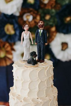 clay figurine cake toppers // photo by Summer Street Photography