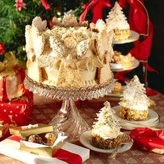 You can freeze the cake layers and cookies weeks ahead, then assemble the cake (except adding the angel cookies) a day or two before your party. Add the cookies and ribbon up to 6 hours before serving.