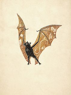 Samhain by Jon Contino Looks like my Bat Gary! Halloween Prints, Halloween Art, Tag Art, Illustrations, Illustration Art, Halloween Illustration, Petit Tattoo, Samhain, Printmaking