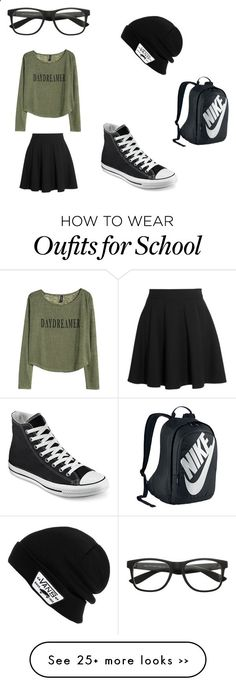 Sports Nike running shoes so beautiful and exquisite,click to come online shopping, school day by ariannacole on Polyvore featuring Vans, Miu Miu, Converse and NIKE