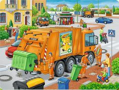 Waste Collection, a Ravensburger jigsaw puzzle for kids, found in the Kick-Ass Kids section of KICKASSPUZZLES. This is a frame puzzle; no box is included. Speech Language Therapy, Speech Therapy, Picture Comprehension, Sequencing Pictures, Drawing Competition, Jigsaw Puzzles For Kids, Computer Lessons, Picture Composition, Hidden Pictures