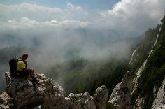 Walking on clouds. Piatra Craiului Mountains.