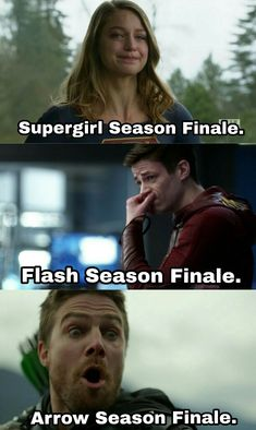 Thanks Arrowverse for so many emotional problems in my life😂 Superhero Shows, Superhero Memes, Supergirl Dc, Supergirl And Flash, Series Dc, Arrow Memes, Flash Characters, Rasengan Vs Chidori, Flash Funny