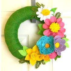 Spring Has Sprung 12 inch Felt and Burlap by EllaBellaMaeDesigns, $38.00