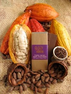 Triple Cacao, tremendous combination of chocolate, nibs and dried cacao pulp! Madre made The Chocolate Garage a special version using all Hawaiian ingredients, it flew off the shelves and now we want more!