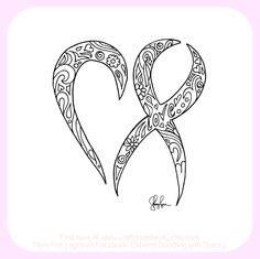 cancer ribbon coloring page find more pages at www