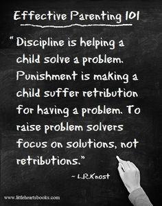 Discipline vs. Punishment <3