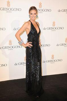 Heidi Klum in Roberto Cavalli and Digrissono Jewelery baubles
