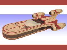 Star Wars X-34 Landspeeder Paper Model | Tektonten Papercraft