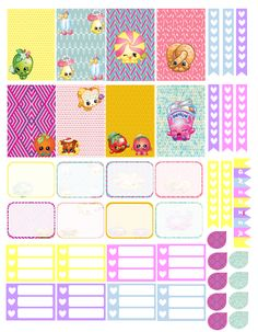 Free Shopkins Planner Stickers | Everybody Wants To Plan