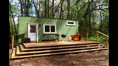 This is the 180 Sq. Create Contentment Tiny Home on Wheels. The couple and their dog have been living in it for the last two years and they designed and built it with the help of Tiny Home Buil… Tiny Houses For Sale, Tiny House On Wheels, Led Trailer Lights, Glass Storm Doors, Instant Water Heater, Tiny House Trailer, Tiny House Listings, Dream House Interior, Sleeping Loft