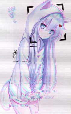67 Ideas for anime art angel manga girl Anime Neko, Kawaii Anime Girl, Otaku Anime, Cool Anime Girl, Chica Anime Manga, Anime Wolf, Anime Art Girl, Anime Naruto, Cool Anime Wallpapers