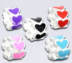 10 Heart Euro Beads. Starting at $1 on Tophatter.com!