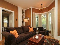 Can i see two tone wall chair rail pics esp hallways paint pinterest hallways chairs - Interior design living room warm ...