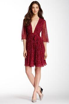 Diane von Furstenberg | Alicia Silk Dress | love how elegant this is