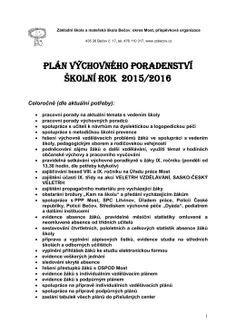 Základní škola a mateřská školaBečov, How To Plan