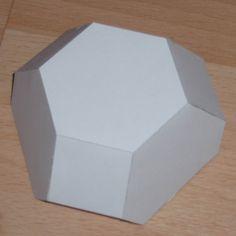 Paper model half truncated octahedron