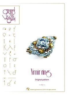 ring tutorial / pattern Ymir ring...PDF instruction for personal use only